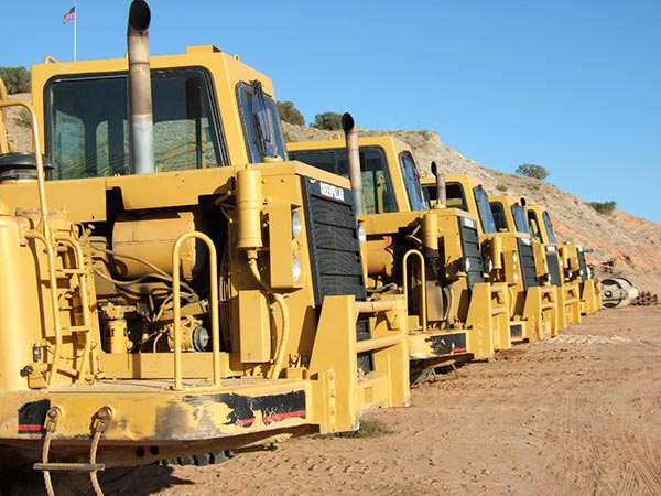 lineup of machines